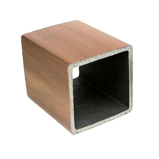 Palanque - Mourão de Madeira Plástica 200 x 200 mm - Ipê