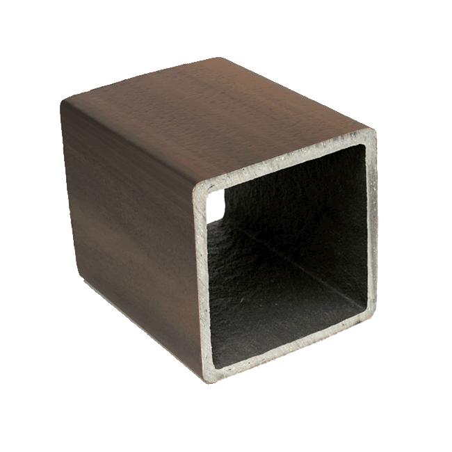 Palanque - Mourão de Madeira Plástica 200 x 200 mm - Nogueira